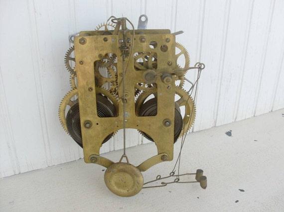 Vintage Clock Gilbert Mantle Clock Movement