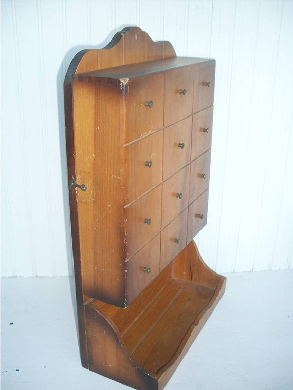 Vintage Wall Mounted Cutlery Cabinet