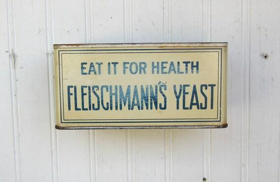 Vintage Fleishmanns Yeast Tin Store Wall Display