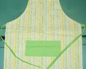 childs apron youth size Bright Stripes