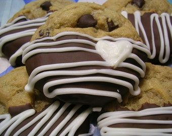 Best Ever Chocolate Dipped Chocolate Chip Cookies 24count