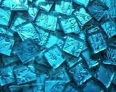 500 VAN GOGH MOSAIC TILES AQUA BLUE HANDCUT GLASS TILE