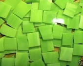 100 Lime Green Mosaic Stained Glass Tiles