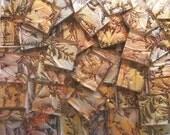 500 Van Gogh Mosaic tiles gold silver copper handcut glass tile