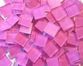 500blueriverglass pink hanpaineted glass mosaic tile