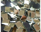 100 Silver Mirrors  Handcut Mosaic Glass Tiles 1/2 inch
