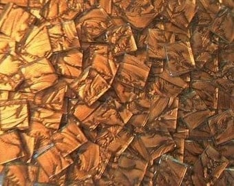 100 VAN GOGH MOSAIC TILES BRONZE HANDCUT GLASS TILE