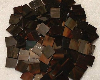 500 French Antique Mosaic Stained Glass Tiles 1/2 inch