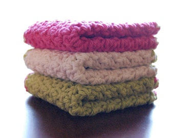 Cotton Baby Washcloths (includes 3)
