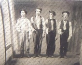 Photo Art Print EXTAORDINARY Rare Photo of 4 Legends of the Wild West. Billy the Kid, Doc Holliday, Jesse James, Charlie Bowdre 1879