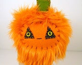 SALE Bacco the plush pumpkin monster jack-o-lantern orange toy halloween stuffed animal