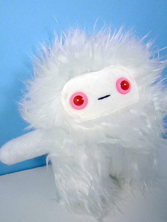 Igloo the plush monster yeti sasquatch off white albino stuffed animal