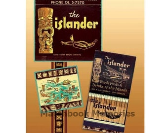 Islander Tiki Matchbook PRINT or POSTER Tropical Wall Decor Tiki Den Decor Tiki Bar Decor Tropical Island Wall POSTER Tropical Tiki Wall Art