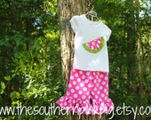 Watermelon Ruffle Pants Outfit - Size NB - 12 months - Larger sizes available