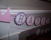 Princess Themed Birthday Party Banner - Girl birthday, princess birthday, crowns, crown,  3rd birthday, 4th birthday, 5th birthday, twins