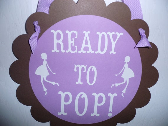 Girl Baby Shower Door Sign Ready To Pop It S A Boy Its