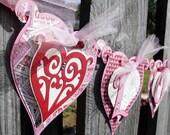 Valentine Love Heart Banner