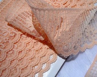 Vintage Lace Peach Flat Trim (8 yards)