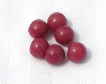 Vintage Buttons 6 Pink Rose