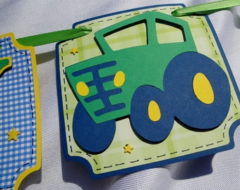 Tractor Happy Birthday Banner