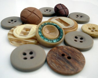 Vintage Brown Buttons Lot