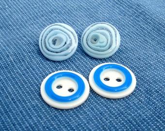 Vintage Blue Buttons