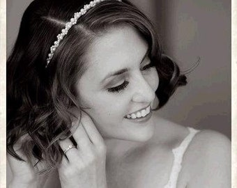 Pearl Bridal Headband. Pearl Hairpiece. Pearl Hairpiece for Weddings