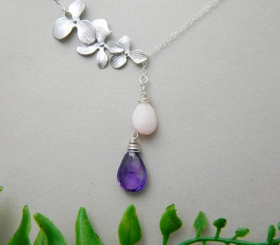 Birthstone Necklace Couples Birthstone Jewelry by ...