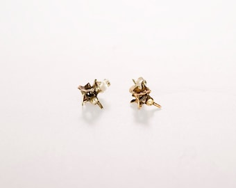 Vertebrae Stud Earrings- Brass/ Bronze