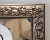 Skull Frame w/Mirror-Silver 10x12 inches