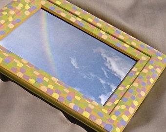 Hand Painted Picture Frame-Pastel Spots