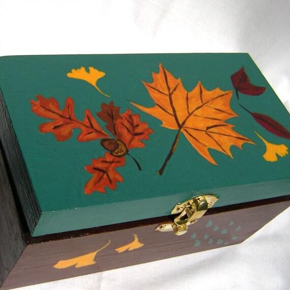 Decorative Box - Autumn Leaves Keepsake Box