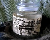 SEARS Catalog Print on a Sewing Notions APOTHECARY JAR- Button jar, nostalgic jar, apothecary container glass canister Item