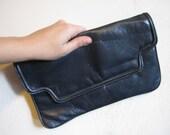 Vintage Navy Blue Clutch - Simple, Functional, Wonderfully Weathered