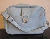 RESERVED FOR TINYSKETCHBOOK Vintage Sky Blue Overnight Bag - Luggage