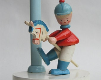 Little Boy to Banbury Cross Bedside Light Lamp for baby child nursery room decor