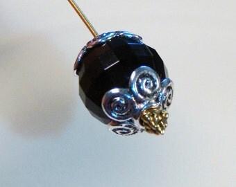 20 silver swirly flower bead cap end swirl swirling findings 10mm - bulk - C0076-20