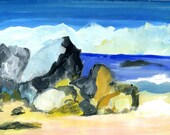 My favourite beach. 'Rocks at Fisherman's Beach, Simon's Town'. Limited Editon Print one of only 24. Free shipping