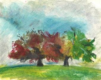 Romantic Tree Art lover - 'Copper Beech and Oak Hamstead Heath' Limited Edition Print one of only 25. FREE world shipping
