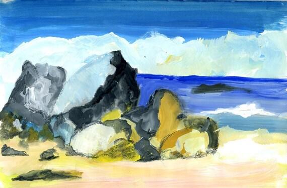 My favourite beach. 'Rocks at Fisherman's Beach, Simon's Town'. Limited Editon of 25. Free world shipping