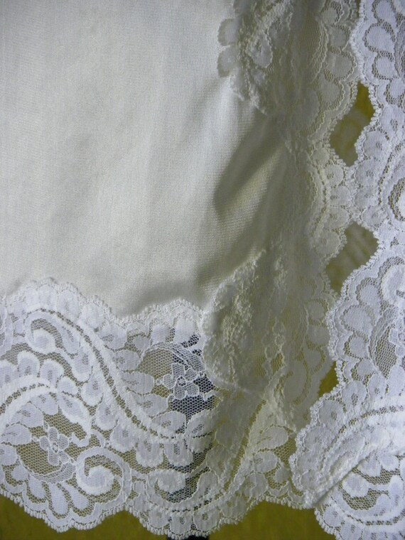 Vintage 1960 Greenco Maid White Skirt Slip Huge Lace Embleshments at Hemline U.S.A. Made Pristine Condition on Etsy