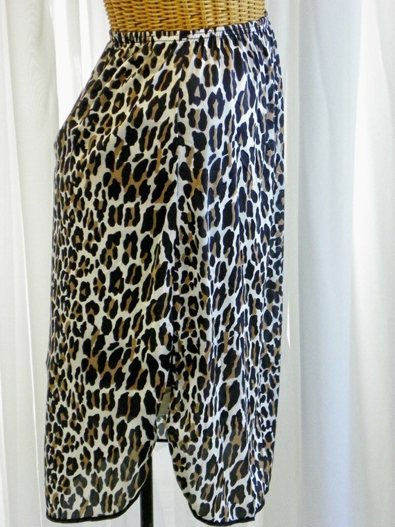 Vintage Vanity Fair Leopard Animal Print 1960s Half Slip Circa 1960s Pristine Condition SML on Etsy