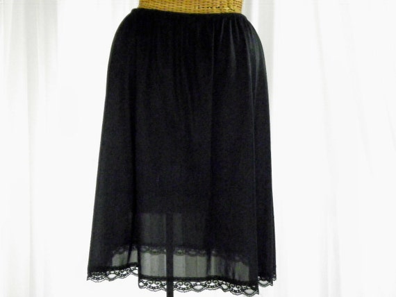 Vintage Mini Skirt Slip Deena Black Made In U.S.A. Pristine Condition Size Medium on Etsy