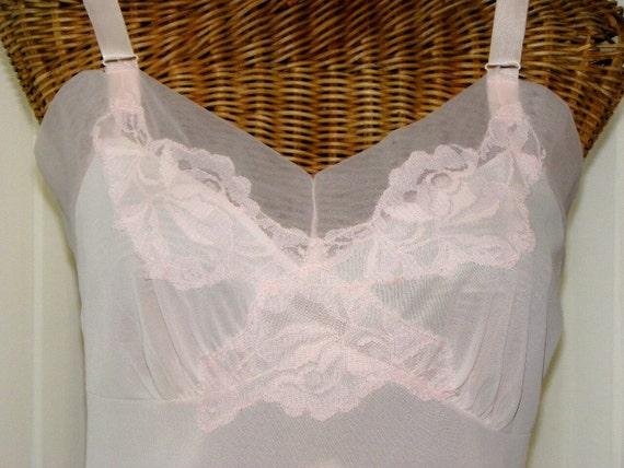 Vintage Van Raalte Pink Double Chiffon Dress Slip Peaked Waistline Pristine Made In USA 32 Bust on Etsy