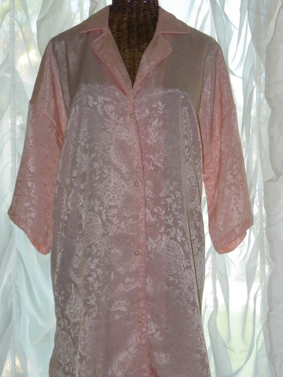 Vintage Pink Victorias Secret Dressing Robe White Pearl Shank Buttons MFG Tags Attached Large on Etsy