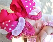 Our All New Boutique Color Line of Cyber Bows Shown in HOT PINK