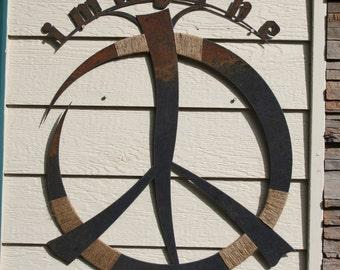 IMAGINE Rustic Peace Sign Art