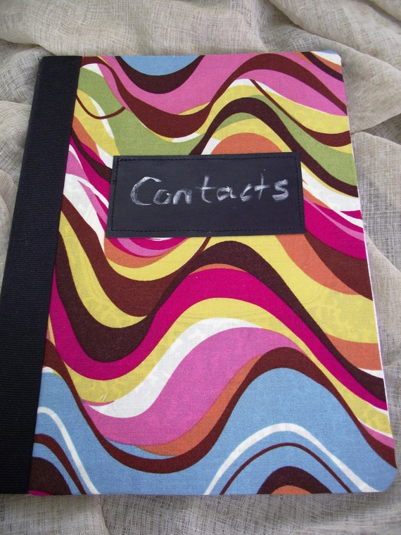 COMPOSITION NOTEBOOK Chalkboard Tag wavy groovy multi colored Back to School Girls Students Fashion notebook