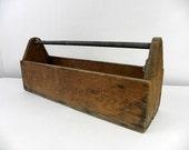 VIntage Handmade Wooden Tool Box