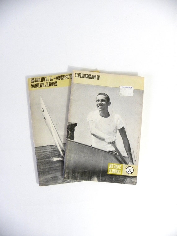 1960/70s Canoeing, Sailing Boy Scout Booklets